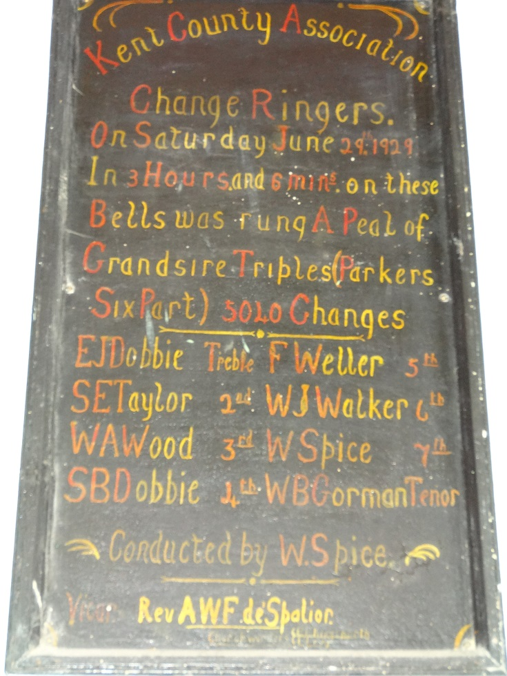 Bell ringing board in tower