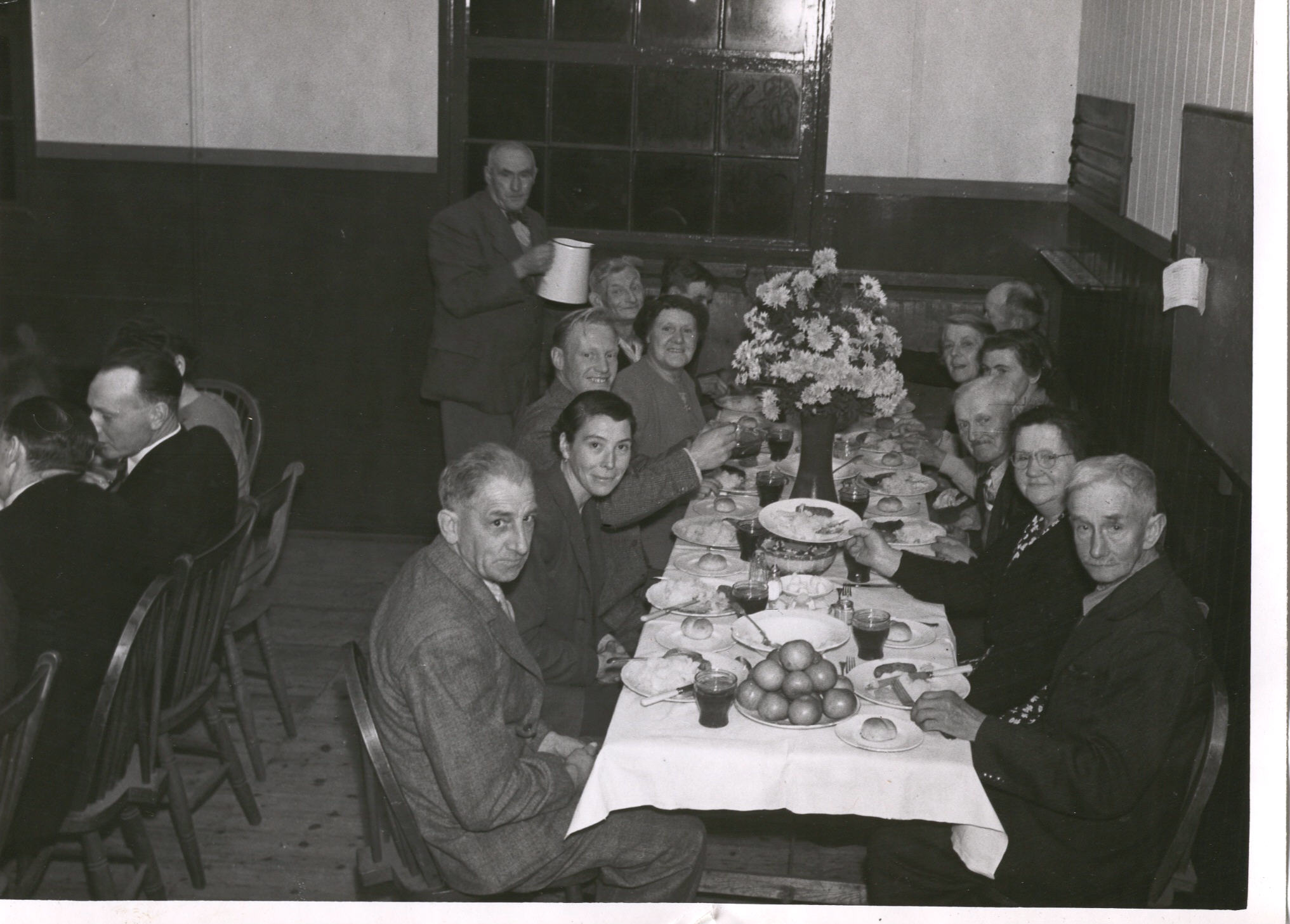 Harvest Supper in the old village hall